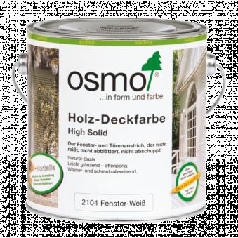 Белая краска для окон и дверей Osmo Holz-Deckfarbe (2.5 л)
