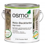 Белая краска для окон и дверей Osmo Holz-Deckfarbe (0.75 л)